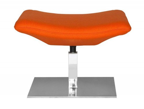 Kleiber Thunder Stylish Fabric Footrest with Square Chrome Base
