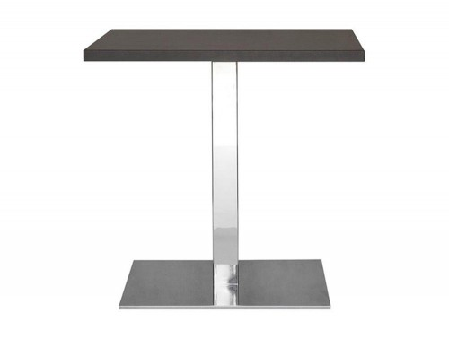 Kleiber Thunder Stylish Lounge Table with Square Chrome Base