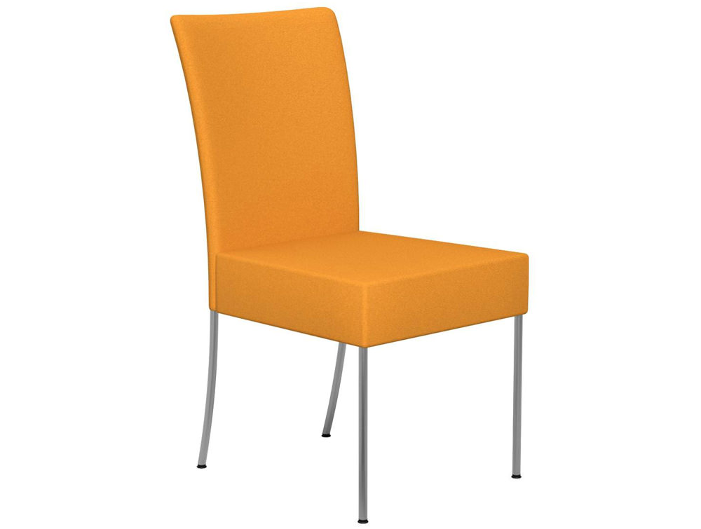 Kleiber Time Series Canteen Chair E112 Yellow Stainless Steel