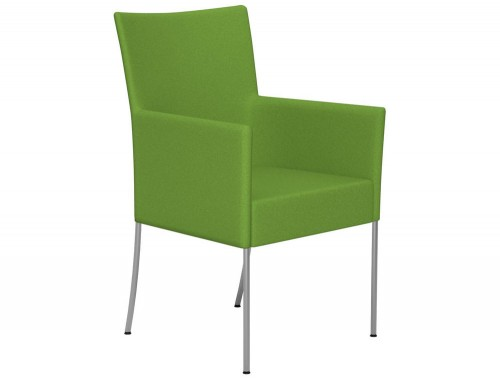 Kleiber Time Series Canteen Chair with Arms E051 Green Stainless Steel