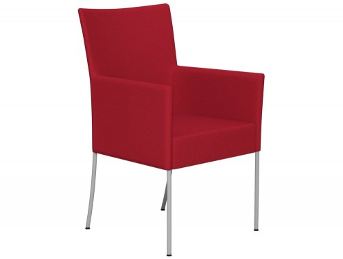 Kleiber Time Series Canteen Chair with Arms E090 Red Standard