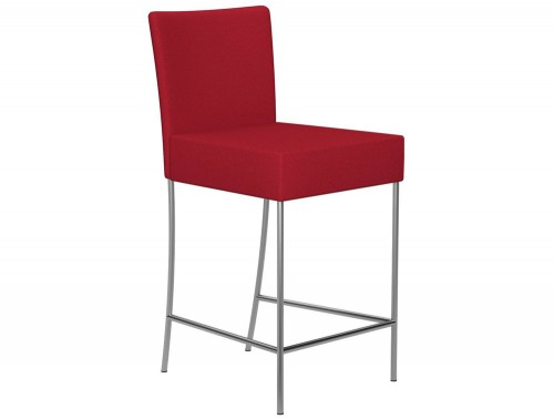 Kleiber Time Series Canteen Stool with Back Support 650 mm E090 Red Stainless Steel - Radius office