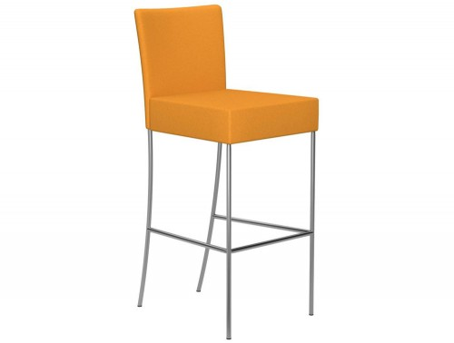 Kleiber Time Series Canteen Stool with Back Support 800 mm E112 Yellow Stainless Steel