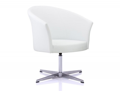 Kleiber You Stylish Swivel Base Visitor Chair in White