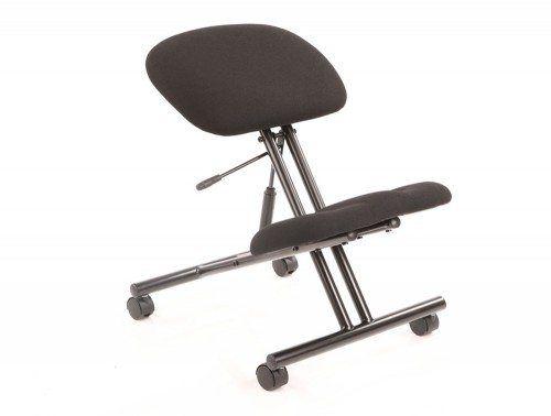 Kneeling Stool Task Operator Black Fabric Black Frame Featured Image