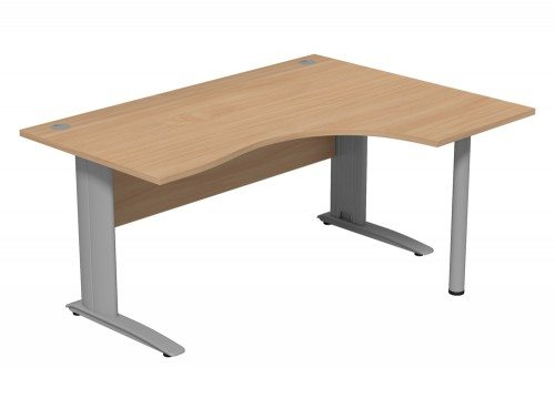 Komo Komo Crescent Desk With Pole Leg BE-R-SLV-1612