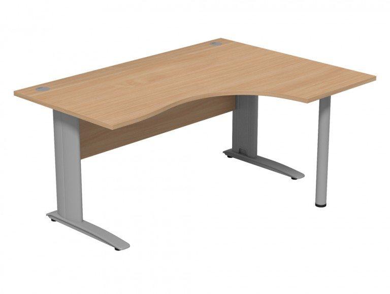 Komo Komo Crescent Desk With Pole Leg BE-R-SLV-1612