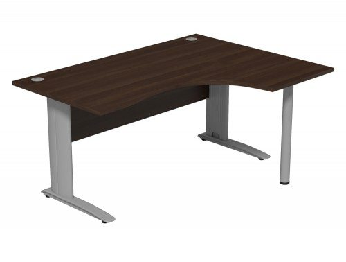 Komo Komo Crescent Desk With Pole Leg DW-R-SLV-1612