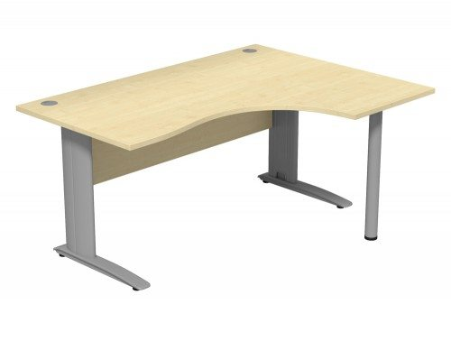 Komo Komo Crescent Desk With Pole Leg MP-R-SLV-1612