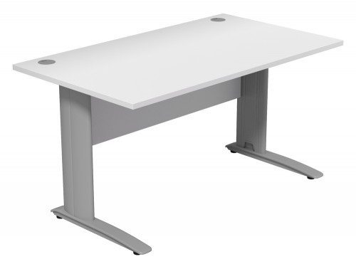 Komo Komo Straight Desk WH-SLV-1480