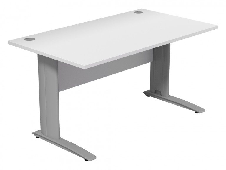 Komo Komo Straight Desk WH-SLV-1480