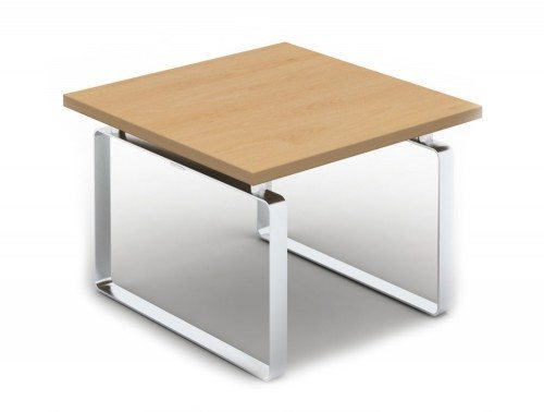 LP0606B Loop Square Coffee Table with Closed Chrome Frame in Beech
