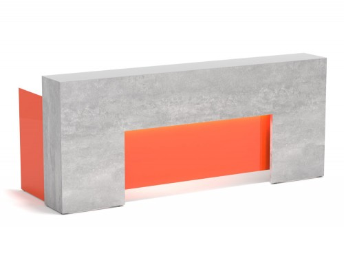Lada Block Reception Unit in Grey and Orange Finish Front
