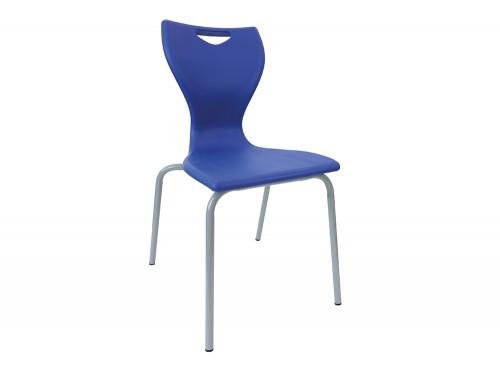 Laura 4 Legged Chair for Educational Seating Environment in Royal Blue