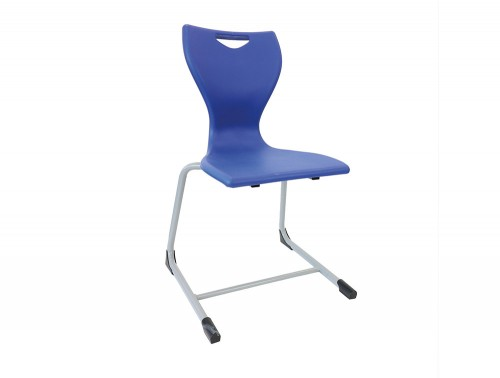 Laura Reverse Cantilever School Classroom Chair in Blue
