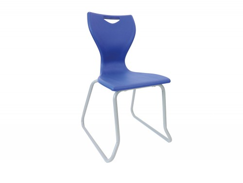 Laura School Canteen Chair with Skid Base