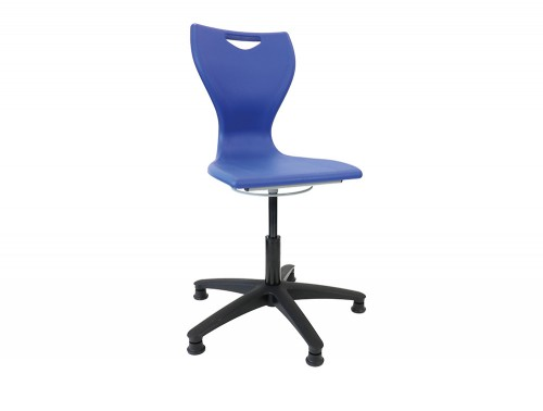 Laura School Computer Lab Chair with Castors in Blue