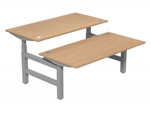 Leap Adjustable Bench Desk TP-BE-SLV-1-16-80 in Beech