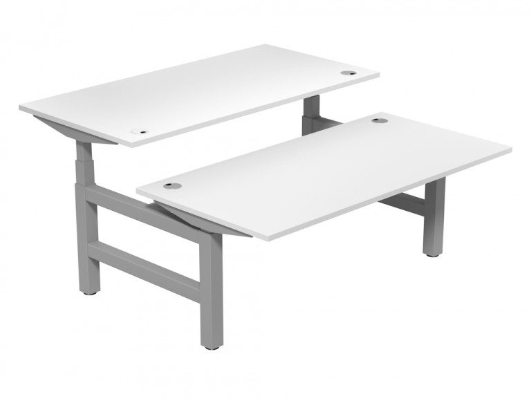Leap Adjustable Bench Desk TP-WH-SLV-1-16-80 in White