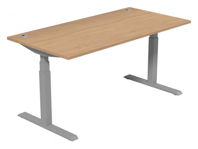 Leap Adjustable Single Desk TP-BE-SLV-1-16-80 in Beech