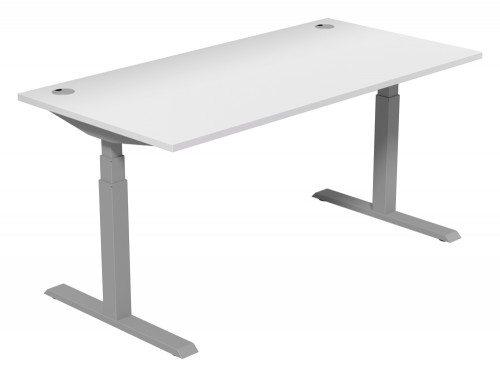 Leap Adjustable Single Desk TP-WH-SLV-1-16-80 in White