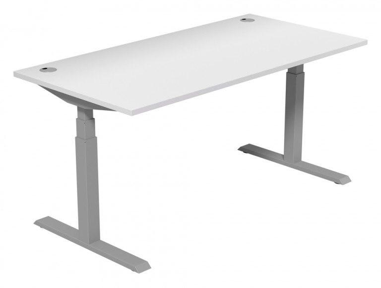 Leap Adjustable Single Desk TP-WH-SLV-1-16-80 in White