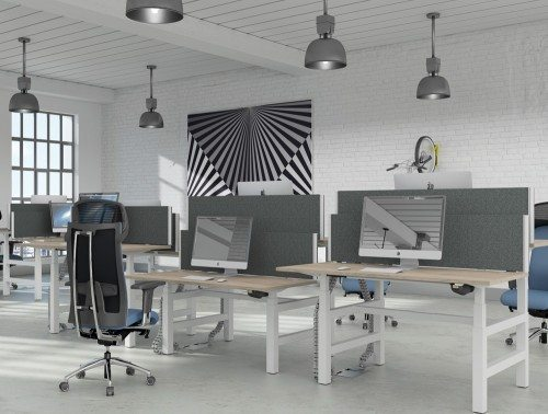 Leap Bench Electric Desk with Ergonomic Seating