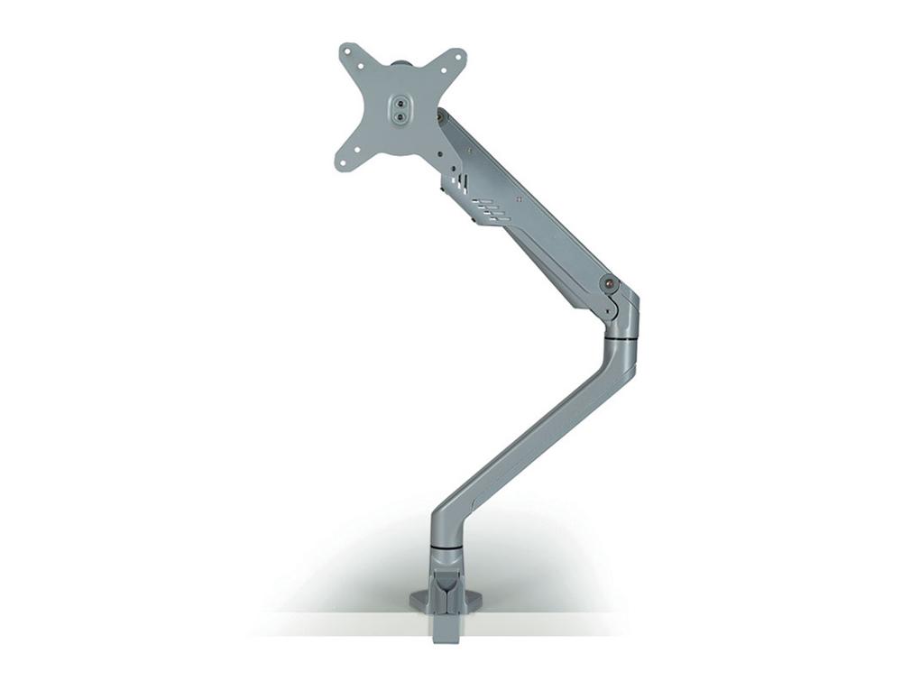 Libero Slimline Gas Lift Single Monitor Arm in Silver