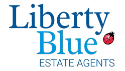 Liberty Blue logo white outline