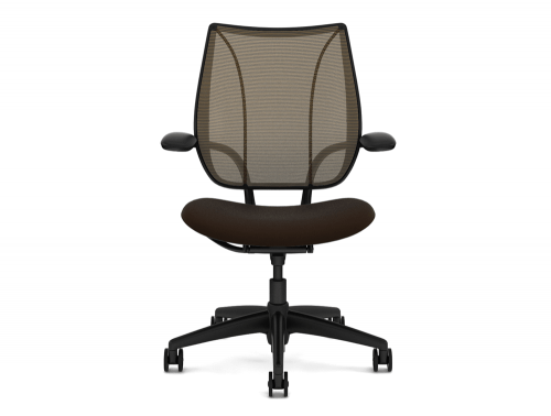 Liberty Mesh Ergonomic Chair in Black with Amber Mesh