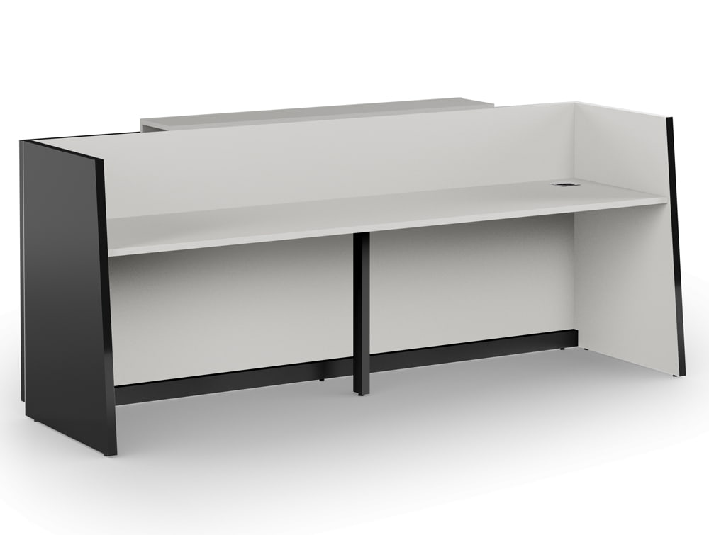 Libra Premium Anthracite Reception Desk Unit with Grey Inner Elements