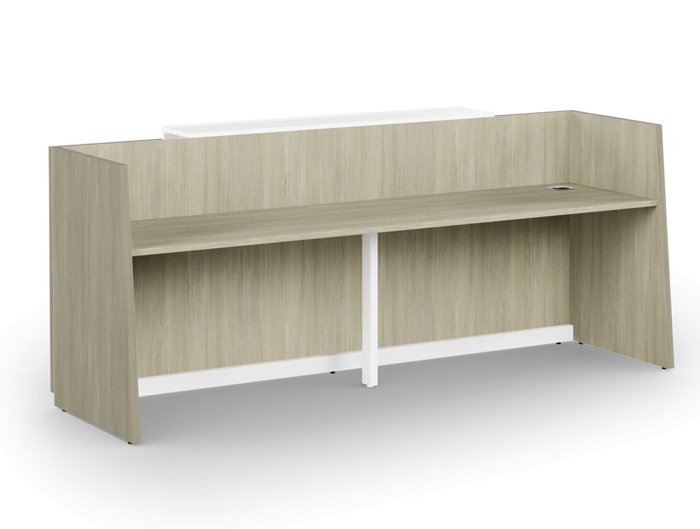 Libra Wooden Office Reception Desk Counter in Arctic Oak Finish