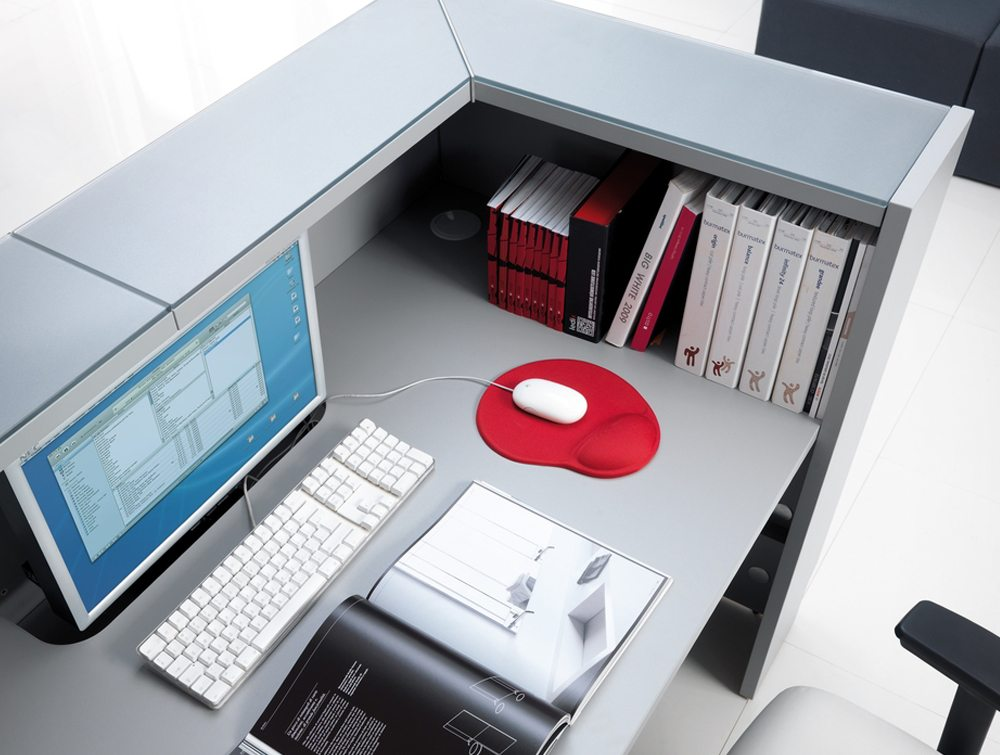 Linea Glass Reception Counter inside view
