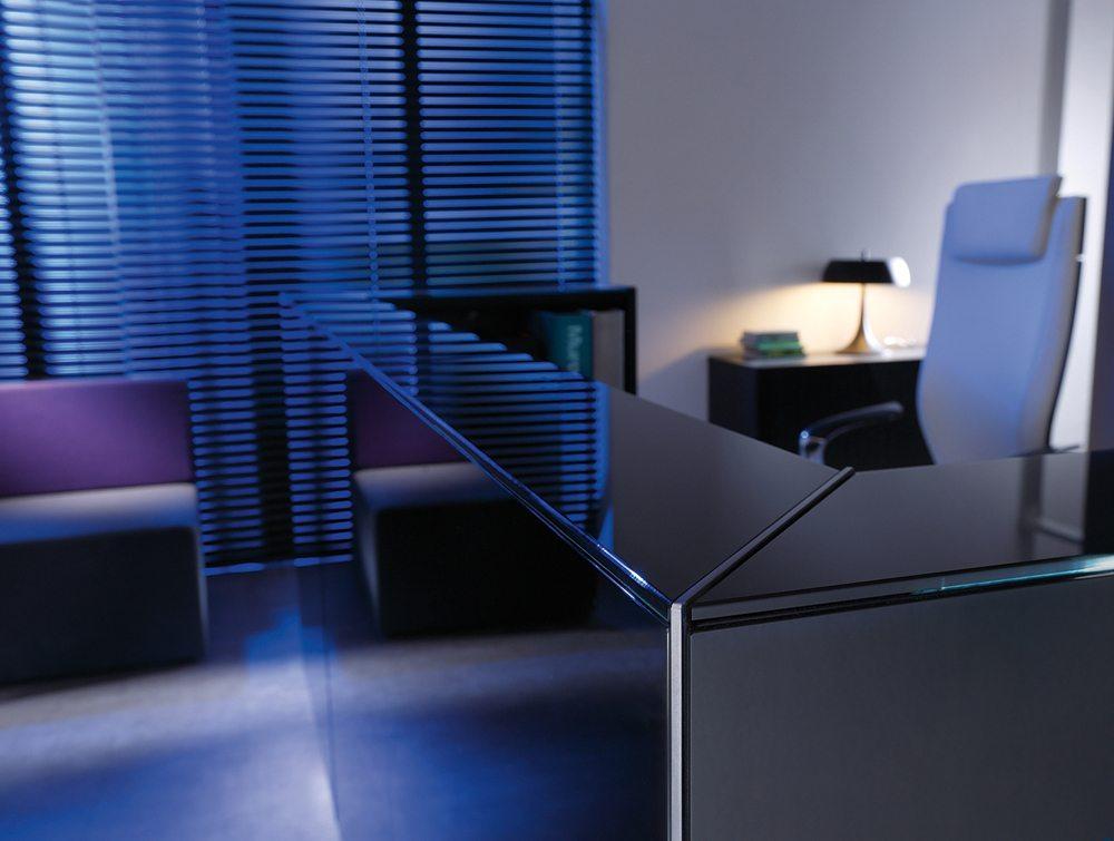 Linea Glass Reception Counter 8