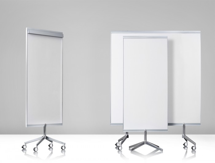 Lintex M3 Mobile Double-Sided Whiteboard for Meeting Rooms Two Sizes With or Without Flip Chart Holder on the Top