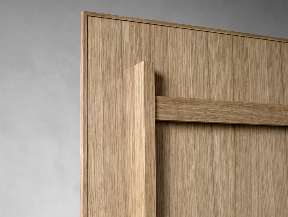 Lintex Mobile Whitboard in Natural Oak Wooden Finish Backside