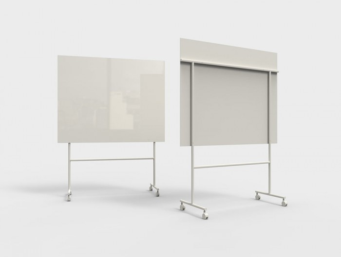 Lintex Mono Mobile Glass Writing Board in Grey for Modern Offices 1507