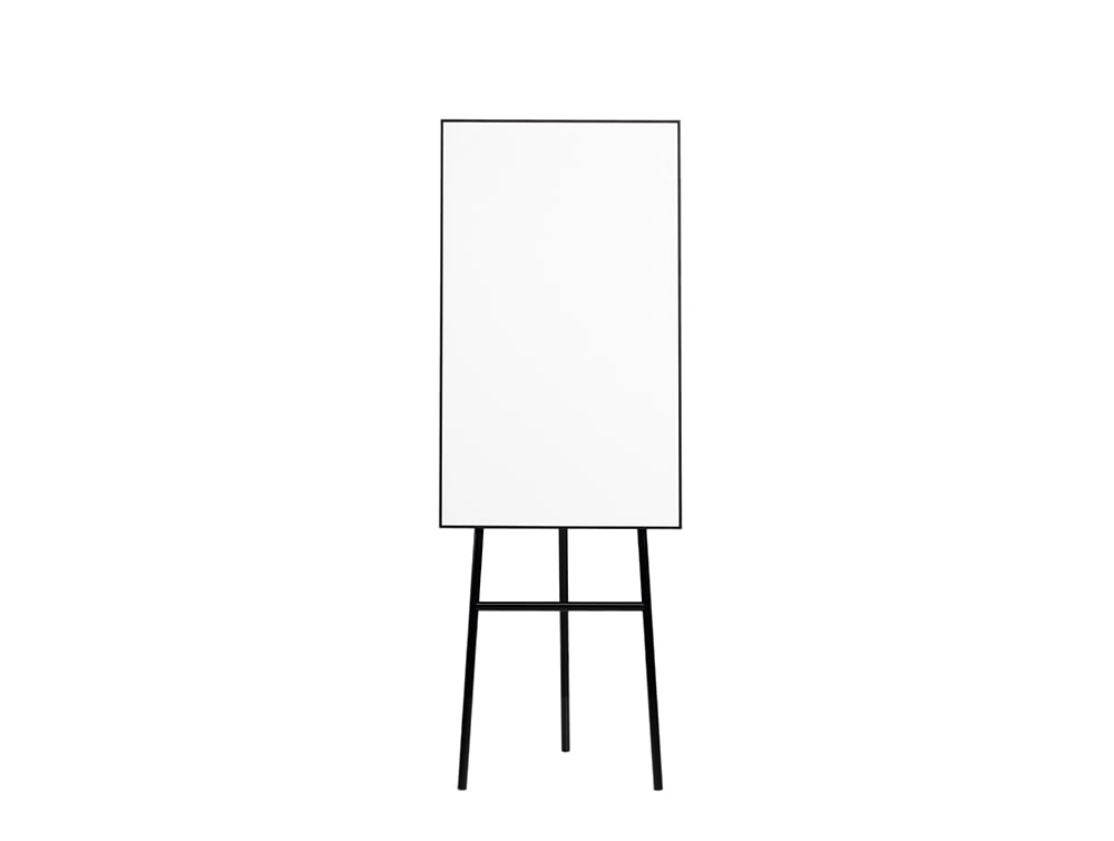 Lintex ONE Classic 3-Legged Flip Chart Easel with Magnetic Writing Surface in Black
