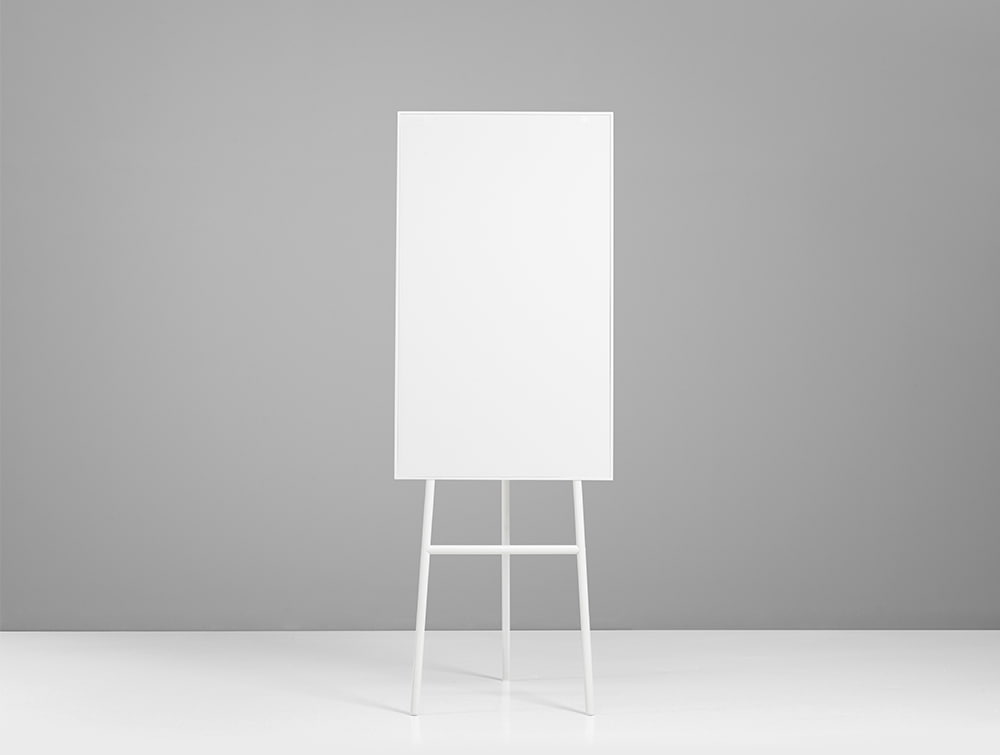 Lintex ONE Classic 3-Legged Flip Chart Easel with Magnetic Writing Surface in White