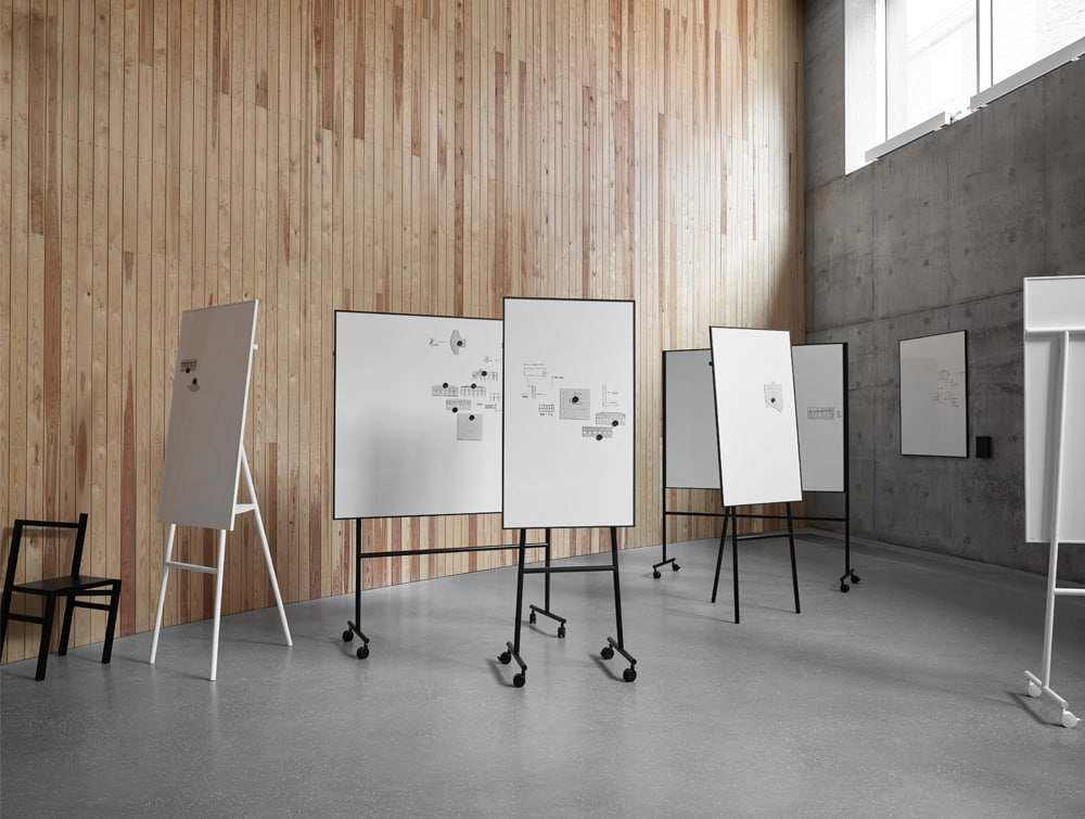 Lintex ONE Freestanding Writing Board Range Flip Chart Easel or Mobile Both Sides Whiteboard with Magnetic Surface