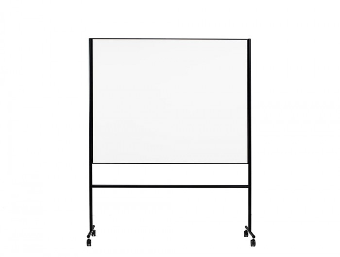 Lintex ONE Mobile Double Sided Magnetic Surface Whiteboard in Black