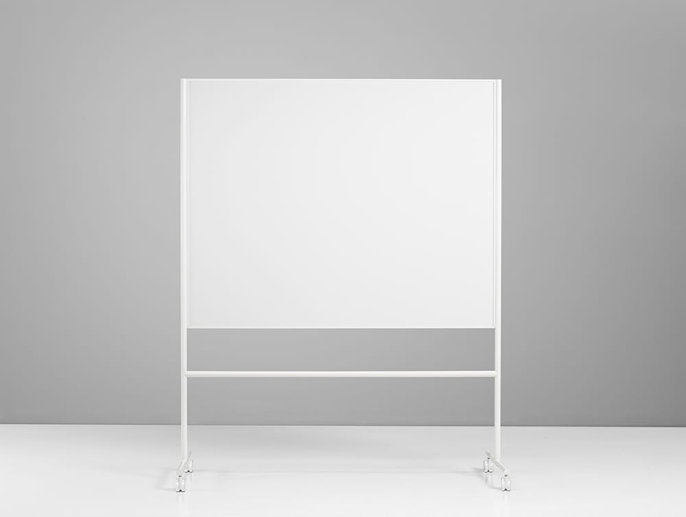 Lintex ONE Mobile Double Sided Magnetic Surface Whiteboard in White