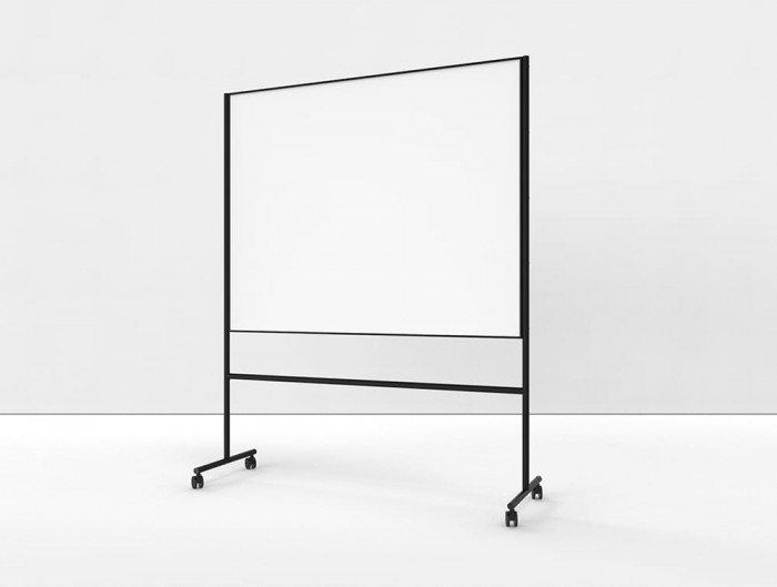 Lintex ONE Mobile Double Sided Whiteboard with Black Aluminium Frame