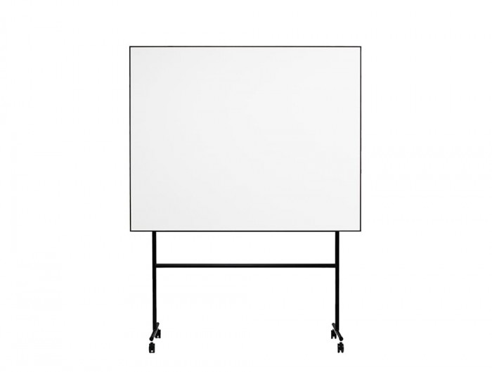 Lintex ONE Mobile Whiteboard with Large Magnetic Writing Surface in Black