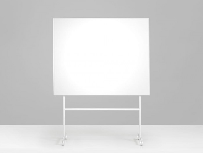 Lintex ONE Mobile Whiteboard with Large Magnetic Writing Surface in White