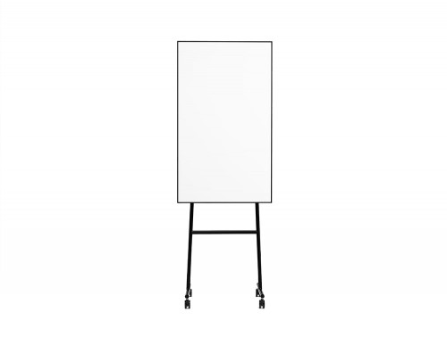 Lintex ONE Mobile Whiteboard with Magnetic Writing Surface in Black