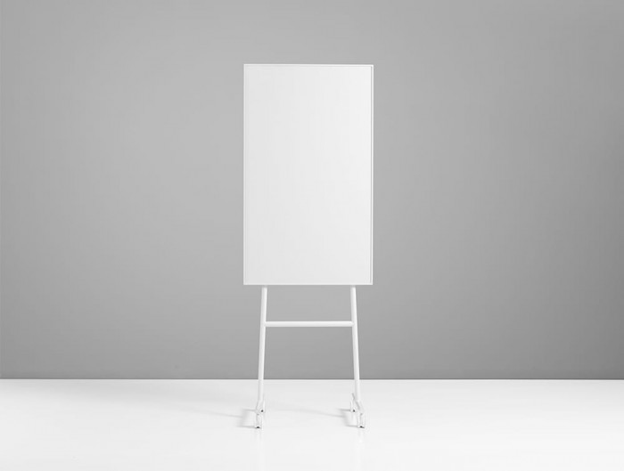 Lintex ONE Mobile Whiteboard with Magnetic Writing Surface in White