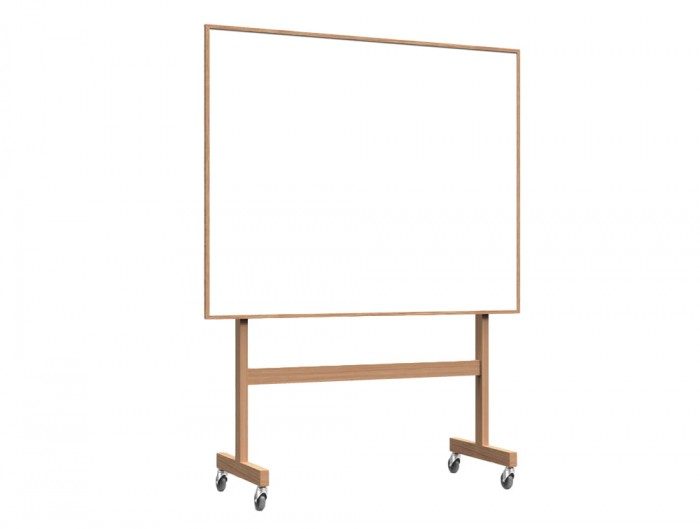 Lintex Wooden Mobile Whiteboard for Office Meeting Rooms 1508mm