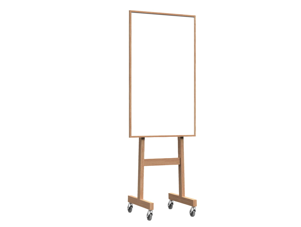Lintex Wooden Mobile Whiteboard for Office Meeting Rooms 708mm