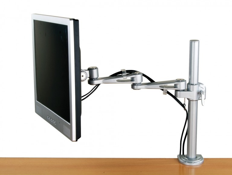 LCD desktop mount two way adjustable monitor arm